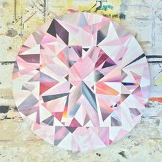 this Pink Diamond painting by Kurt Pio is all of our home decor goals