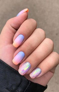 108 cute nail art designs for short nails 2019 11 Cute Nail Art Designs, Cute Summer Nail Designs, Colorful Nail Designs, Colorful Nails, Round Nail Designs, Summer Design, Bright Summer Nails, Cute Summer Nails, Nail Summer