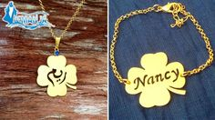 Get a 24K Gold Plated/Rhodium Plated customized necklace from Iemanja for only $28 instead of $48!