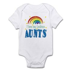 f2a2ccca8db I Love My Lesbian Aunts Baby Infant Bodysuit Baby Light Bodysuit