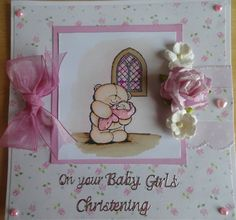 Forever Friends Christening card x