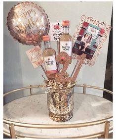 21st Birthday Crafts, 21st Birthday Bouquet, 21st Birthday Gifts For Best Friends, 21st Birthday Basket, 21st Birthday Presents, 21st Birthday Decorations, Birthday Gift Baskets, 21st Gifts, Friend Birthday Gifts