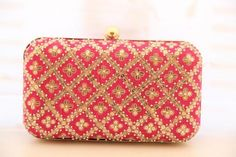Pink clutch Bag for Indian wedding
