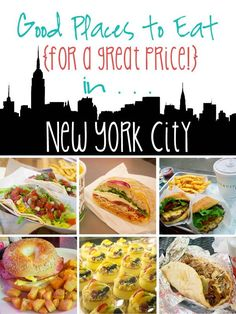 New York City Eateries - Yummy places to eat for a good price in the Big Apple!