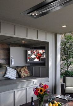 a perfect outdoor television nook
