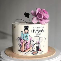 Happy Birthday Cake Images, Beautiful Birthday Cakes, Birthday Cake Girls, Beautiful Cakes, Fondant Cakes, Buttercream Cake, Cupcake Cakes, Cupcakes, Cake Decorating Techniques