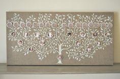FAMILY TREE Original painting mixed media. Shabby by verylilly