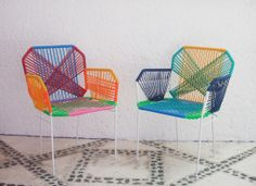 Mexican Vinyl Cord Chairs
