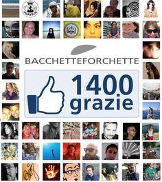 1400 mi piace sulla pagina facebook di Bacchetteforchette