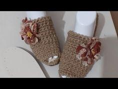 Dolgu topuk hasir terlik yapımı - YouTube Slippers, Crochet, Youtube, Slipper, Ganchillo, Crocheting, Knits, Youtubers, Chrochet