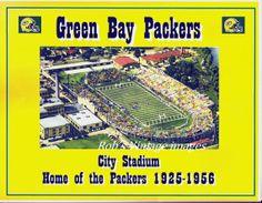 Green Bay Packers Vintage NFL City Stadium Poster. #packers #nfl #vintage