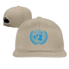 Unisex UN logo united nations flat bill stretch cap LightGrey One Size -- Awesome products selected by Anna Churchill