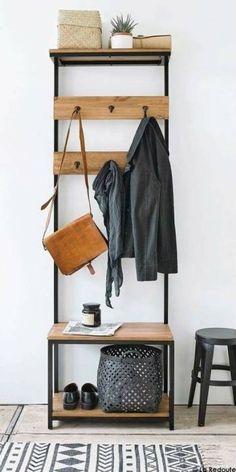 Metal Furniture, Diy Furniture, Furniture Design, Hallway Coat Rack, Diy Home Decor, Room Decor, Coat Stands, Fashion Room, Smart Home