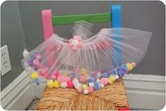 """Pom Pom Petticoat"" Tulle skirt with pom poms inside! So easy and Hanny loves playing with the pom poms!"