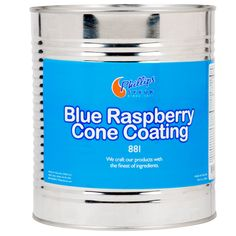 Add mouth watering flavor and texture to your ice cream cones with this blue raspberry cone dip! Designed for adherence to cones, ice cream, and fruit, you can customize any order and give your customers an original sweet treat. Simply dip a cone into the blue raspberry liquid and let it dry. In a few moments, the liquid will harden and your treat will be ready to serve! You can also top off any dish of soft serve by drizzling and letting it harden on the surface to create a crunchy shell…