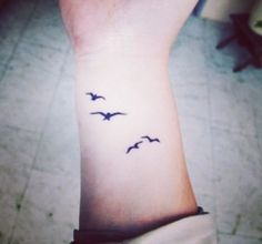 Bird flock silhouettes