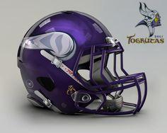 "NFL Team's Helmet Re-Imagined ""Star Wars"" Style   Shili Togrutas (Vikings)"