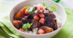 Indo-inspired saucy braised beef and hearty potatoes make this dish a comfort food champ.