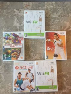Ship Fast ** Lot of 5 Used Wii games Wii fit, Wii, and More!