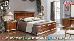 Royal Tempat Tidur Jepara Jati Natural Gold Leaf Mewah Terbaru DF-1327