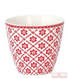 Greengate latte cup Alba white