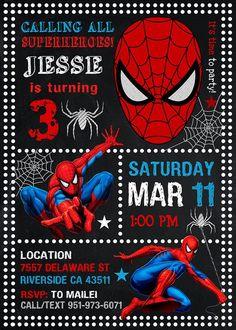 Spiderman Invitation Spiderman Spiderman Party by LeraPrintable