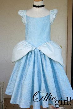 Cinderella dress and other Disney character dresses...so much cuter than the trashy costumes they offer for the wee ones!!