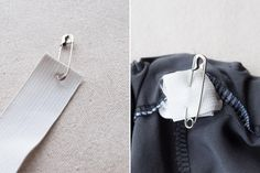Feed the elastic with a large safety pin | Indiesew.com