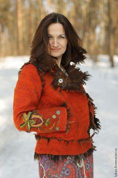 Пиджаки, жакеты ручной работы. Ярмарка Мастеров - ручная работа Дикий, рыжий, влюбленный. Handmade.