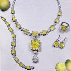 """""""A completely captivating natural fancy intense yellow diamond set with white diamonds. #yellowdiamonds #diamonds #yellowdiamondnecklace #yellowdiamondring…"""" via moussaieffjewellers"""