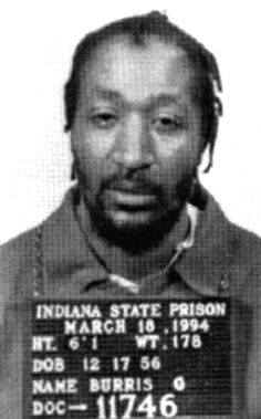 X - Gary Burris was executed by lethal injection on November 20, 1997 for the robbery and murder of taxi driver Kenneth Chambers.