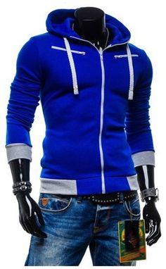 Men's Slim Sweatshirts - Zipper Hoodie