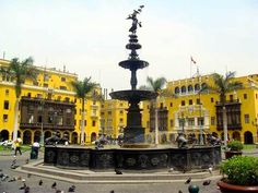 lima fuente plaza de armas mayor colonia