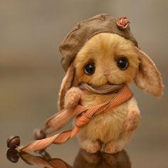 """Bunny Abi"" was created by Ekaterina Bespalova, pinned from teddy-talk.com by Nancy Lee Moran.  There is a pattern in Bespalova's Etsy shop bespalovaekaterina ♡ Teddy Bears by Ekaterina Bespalova ♡ https://www.etsy.com/shop/bespalovaekaterina/ ♡"