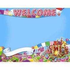 Candy Theme Classroom, Classroom Banner, Future Classroom, Classroom Decor, Candy Themed Party, Candy Land Theme, Candy Land Birthday Party Ideas, Birthday Ideas, Teacher Supplies