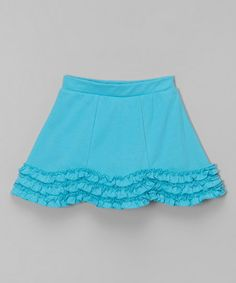 CR Kids Turquoise Scallop A-Line Skort - Toddler & Girls | zulily