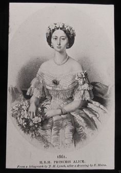 HRH Princess Alice 1861. I think she looked the most like Victoria of any of the daughters.