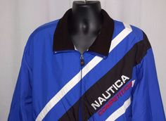 Nautica Competition XL Jacket Blue Windbreaker Striped 90's Sailing in Clothing, Shoes & Accessories, Men's Clothing, Coats & Jackets | eBay