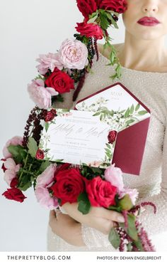 Six stunning stationery trends for 2016 - and how to use stationery to bolster your wedding theme. Wedding Stationery Inspiration, Wedding Inspiration, 2016 Trends, Floral Wreath, Bouquet, Invitations, Weddings, Rose, Happy