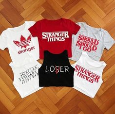 Stranger Things crop tops!! I want them all!!!