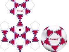 Star Shape Design - Fußball Schnittmuster - Fußbälle bedrucken Star, Design, Couches, Fur, Textiles, Sewing Patterns, Stars