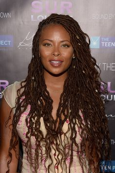 Crochet braid styles 545568942350734934 - Eva Marcille Photos Photos – Actress Eva Marcille attends Teen Project LA's 2016 Teen Dream at Sur Restaurant on July 2016 in Los Angeles, California. – Teen Project LA's 2016 Teen Dream Source by lololouka Faux Locs Hairstyles, My Hairstyle, Protective Hairstyles, Black Girl Braids, Braids For Black Women, Girls Braids, Scene Hair, Summer Hairstyles, Girl Hairstyles