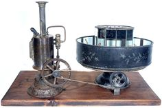 Steam Powered Kinematofor Praxinoscope by Ernst Plank, 1800s 3