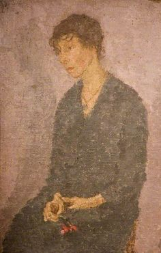 Woman Holding a Flower, Gwen John oil on canvas, Birmingham Museums Trust Gwen John, Mary John, Birmingham Museum, Aberdeen Art Gallery, Under The Shadow, Modern Artists, Art Uk, Portraits, Paintings
