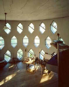 Hexagonal windows of the unique Melnikov House in Moscow, home of Russian avant-garde architect Konstantin Melnikov.