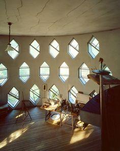 Hexagonal windows of the unique Melnikov House in Moscow, home of Russian avant-garde architect Konstantin Melnikov.