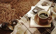 壁紙をダウンロードする チェック柄, 書籍, 一杯のコーヒー, 快適性