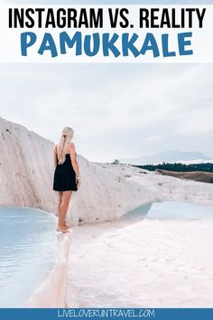 Everything you need to know about visiting Pamukkale in one day including opening times, costs, and where to go for the best photos. #pamukkale #visitturkey #travelguide | Beautiful places | Pamukkale Turkey travel | Pamukkale one day itinerary | Pamukkale thermal pools | Pamukkale travertines | Pamukkale hot springs | Pamukkale photography | Pamukkale girl | Pamukkale photo ideas | Pamukkale photoshoot | Pamukkale Instagram | Hierapolis | Pamukkale Turkey hotels | Turkey travel destinations Europe Travel Tips, European Travel, Asia Travel, Travel Guides, Travel Destinations, Travel Packing, Travel Advice, Solo Travel, Pamukkale