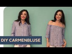 OFF SHOULDER DIY: Schulterfreies Shirt selber machen ~ refashion | OTTO - YouTube