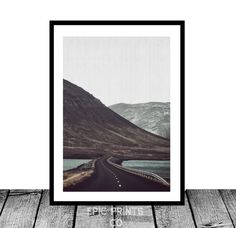 Road Photography Iceland Print Highway Photography by Epicprintsco Iceland Country, Road Photography, Landscape Prints, International Paper Sizes, Mountain Landscape, Country Roads, Digital, Gallery, Illustration